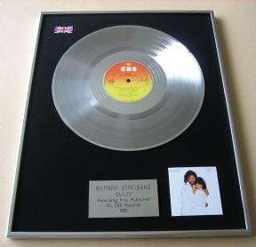 BARBRA STREISAND - GUILTY PLATINUM LP PRESENTATION Disc